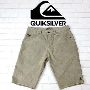 Quiksilver Mens Shorts Sz 34 Corduroy Brown/Blue